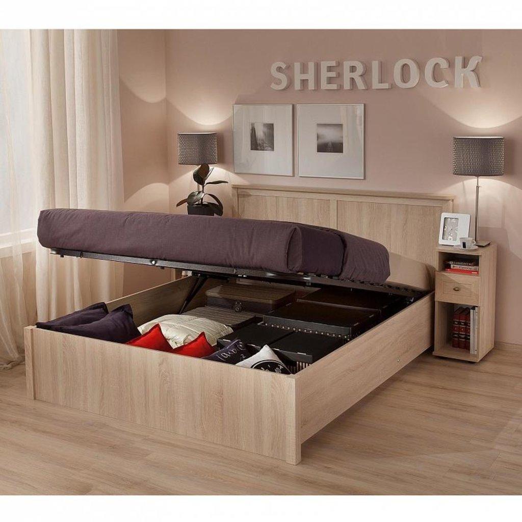 Кровати: Кровать Sherlock 42.2 (1600, мех. подъема) в Стильная мебель