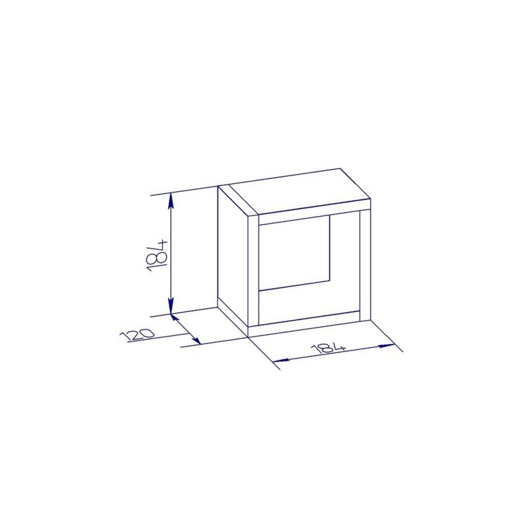 Полки детские: Куб 3 Nature 100 в Стильная мебель
