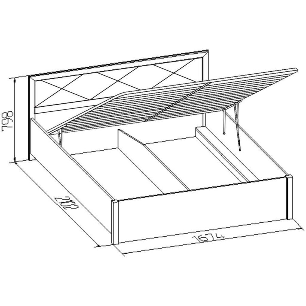 Кровати: Кровать Марсель 32.2 (1600, мех. подъема) в Стильная мебель