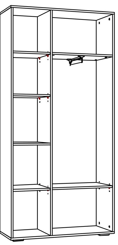 Шкафы для прихожих: Шкаф для одежды LIVORNO НМ 013.36 Зеркало в Стильная мебель