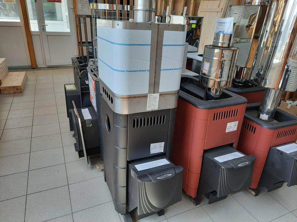 Печи и дымоходы: Печь для бани ТМФ  Бирюса 2013 Carbon, закрытая каменка, антрацит. в Погонаж