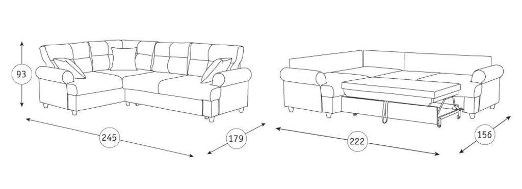 Диваны Мирта: Угловой диван-кровать Мирта Арт. 313/1 в Диван Плюс