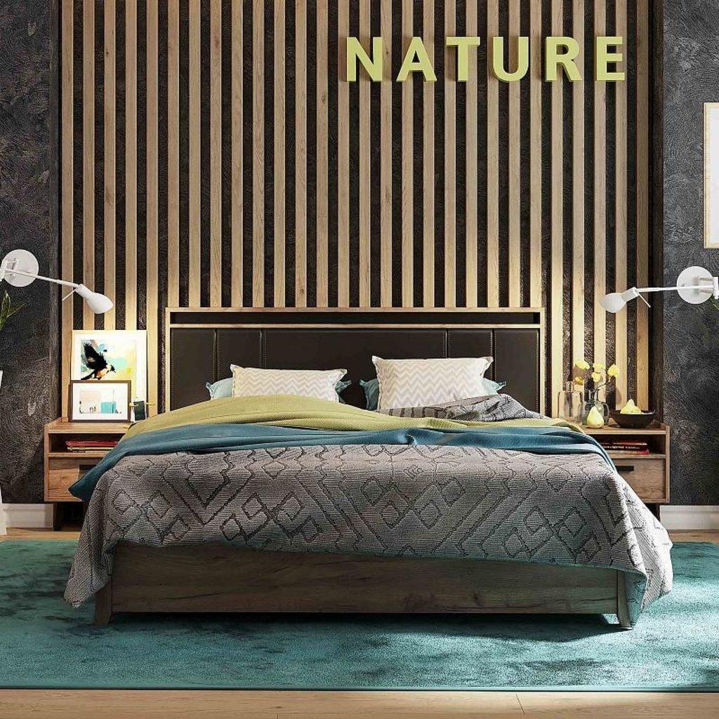 Кровати: Кровать Люкс Nature 308 (1400, мех. подъема) в Стильная мебель