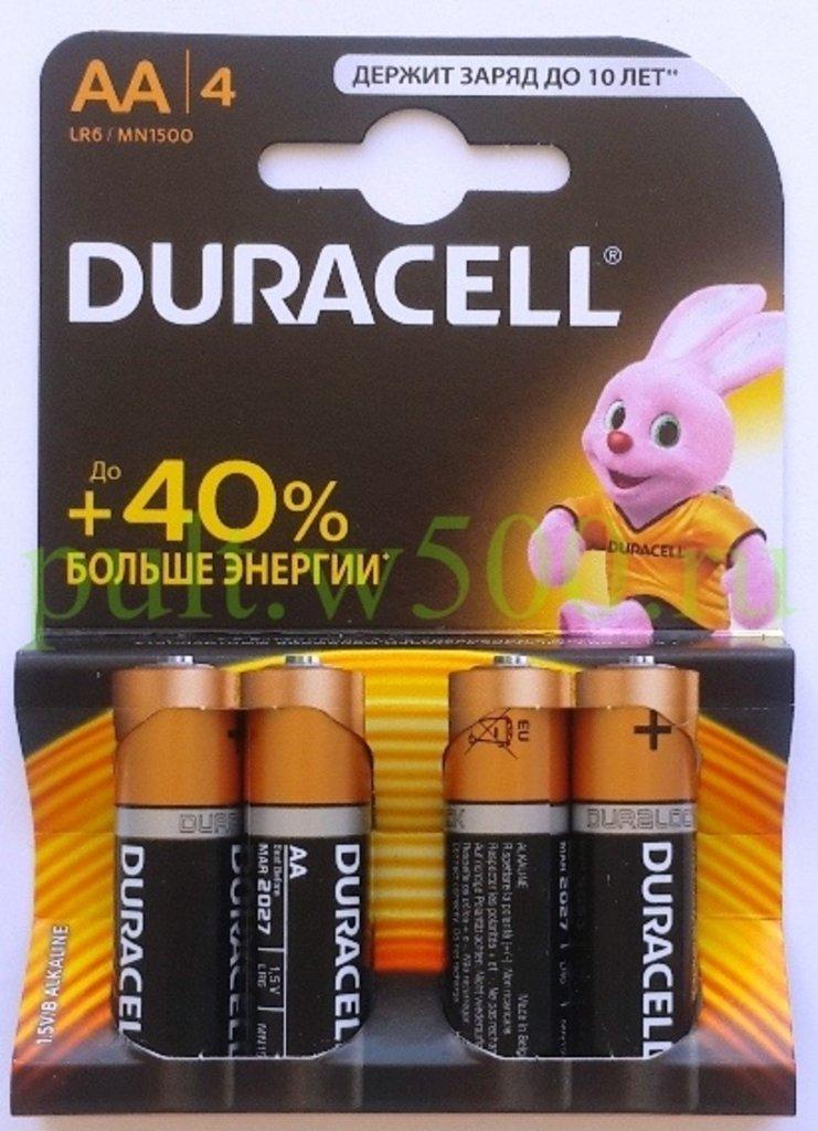 AA, 6, Пальчиковые: Батарея LR6, AA DURACELL MN1500 (4BL) в A-Центр Пульты ДУ