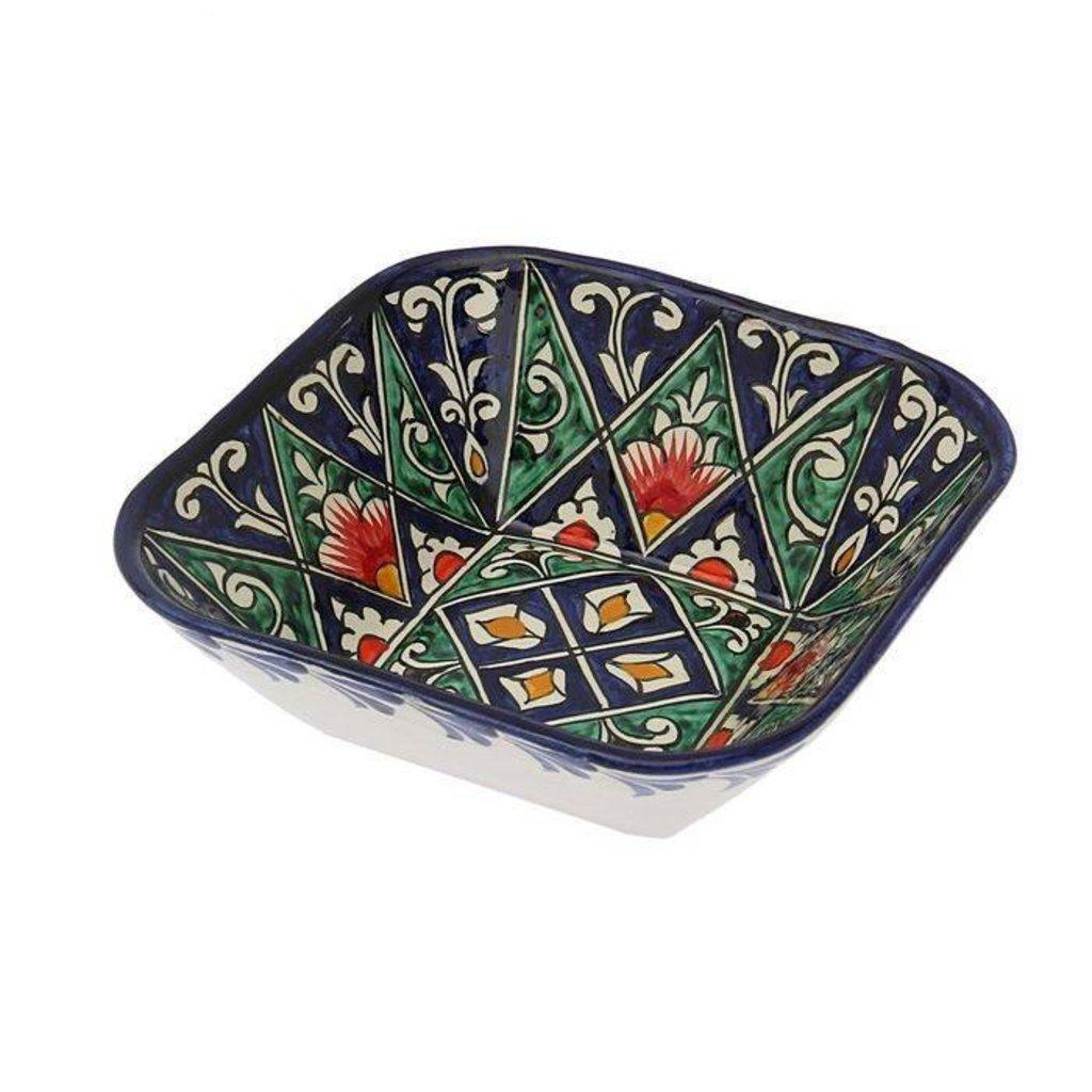 Мангалы. Казаны. Узбекская и турецкая посуда: Салатница квадратная Риштанская керамика в Сельский магазин