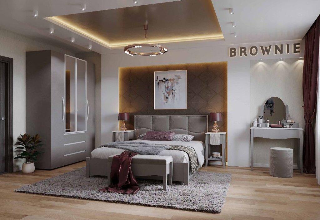 Кровати: Кровать Люкс Brownie 308 (1400, мех. подъема) в Стильная мебель