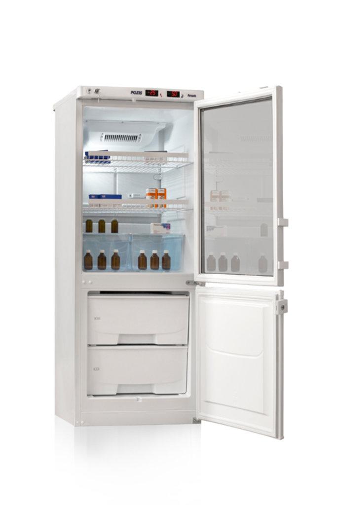 Холодильники: Холодильник лабораторный Позис ХЛ-250 (двери тон. стекло/металл) в Техномед, ООО