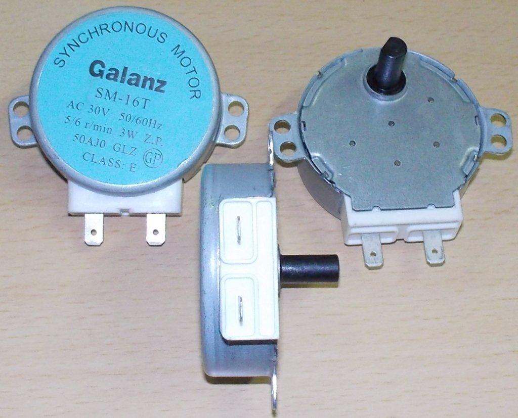 Запчасти для микроволновых СВЧ-печей: Мотор вращения тарелки СВЧ GALANZ, AC-30v, 3w, 5/6rpm, шток-14мм MCW030UN в АНС ПРОЕКТ, ООО, Сервисный центр