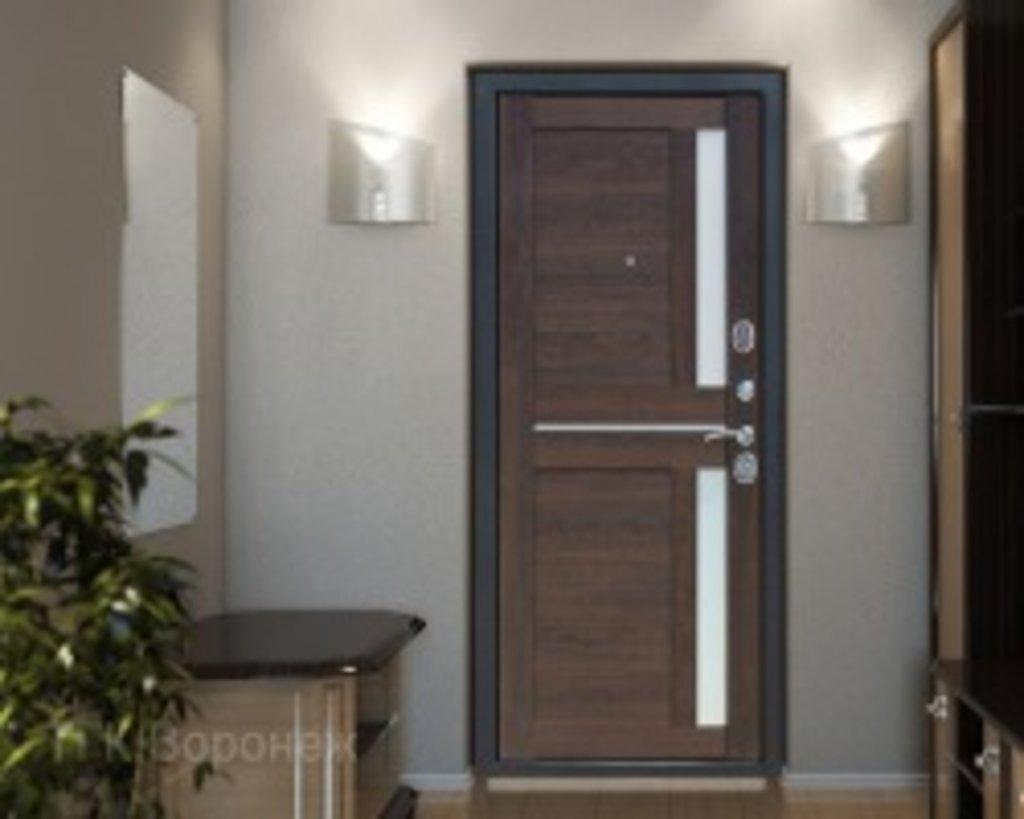 Входные двери (бюджет) от 70-80мм: Входная дверь  НЬЮ-ЙОРК Царга каштан в Пластиковые окна в Сургуте STEKLOMASTER