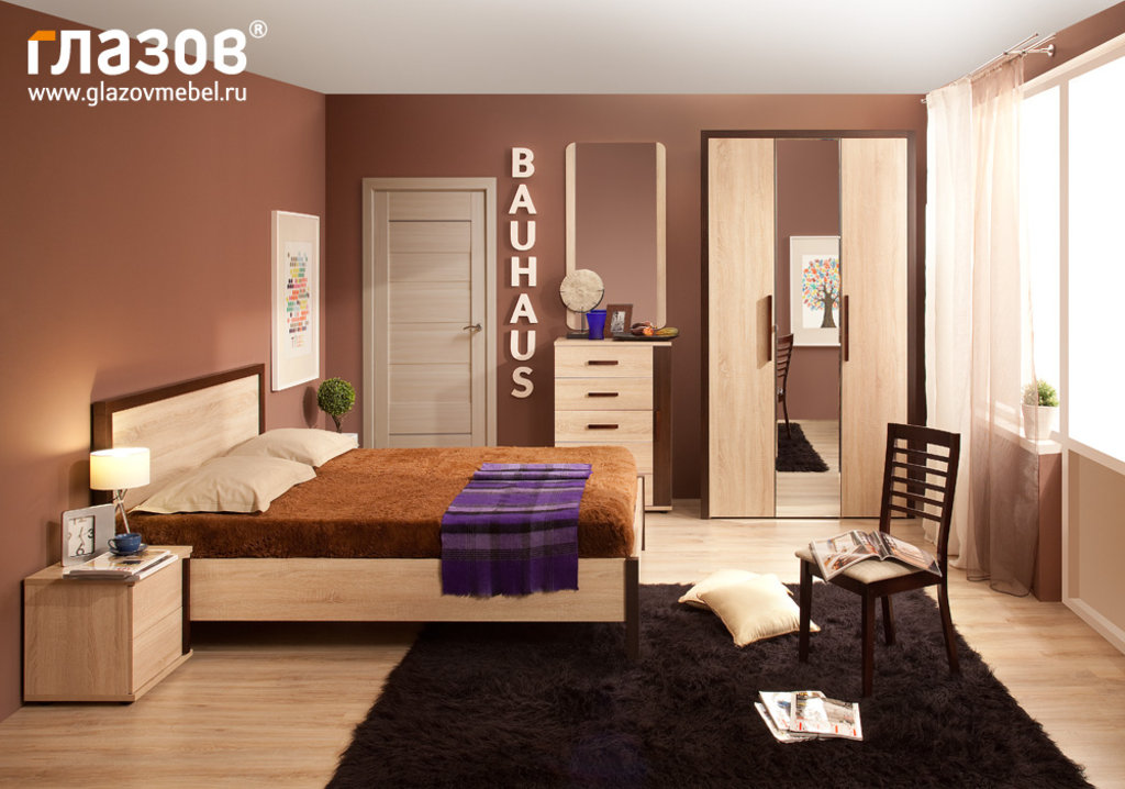 Кровати: Кровать BAUHAUS 4 (1200, орт. осн. металл) в Стильная мебель
