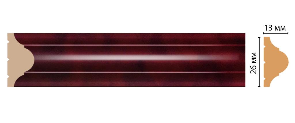 Молдинги: Цветной молдинг DECOMASTER D001-62 (26*13*2400) в Мир Потолков