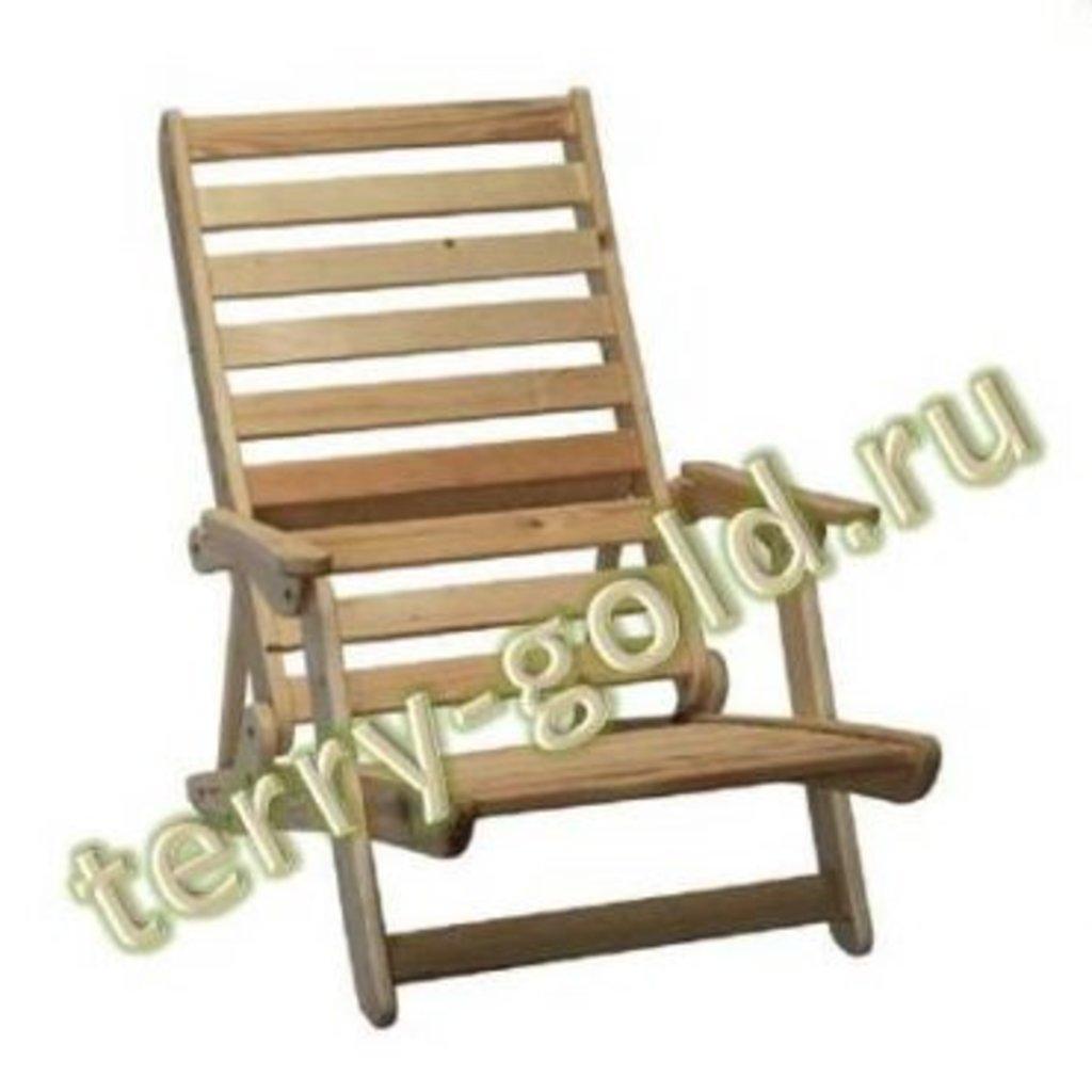 Садовая и пляжная мебель, общее: Шезлонг складной в Terry-Gold (Терри-Голд), погонажные изделия