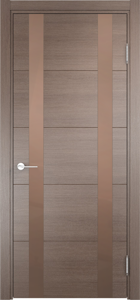 Двери Верда: Дверь межкомнатная Турин 06 Эко шпон с Алюминиевой кромкой в Салон дверей Доминго Ноябрьск