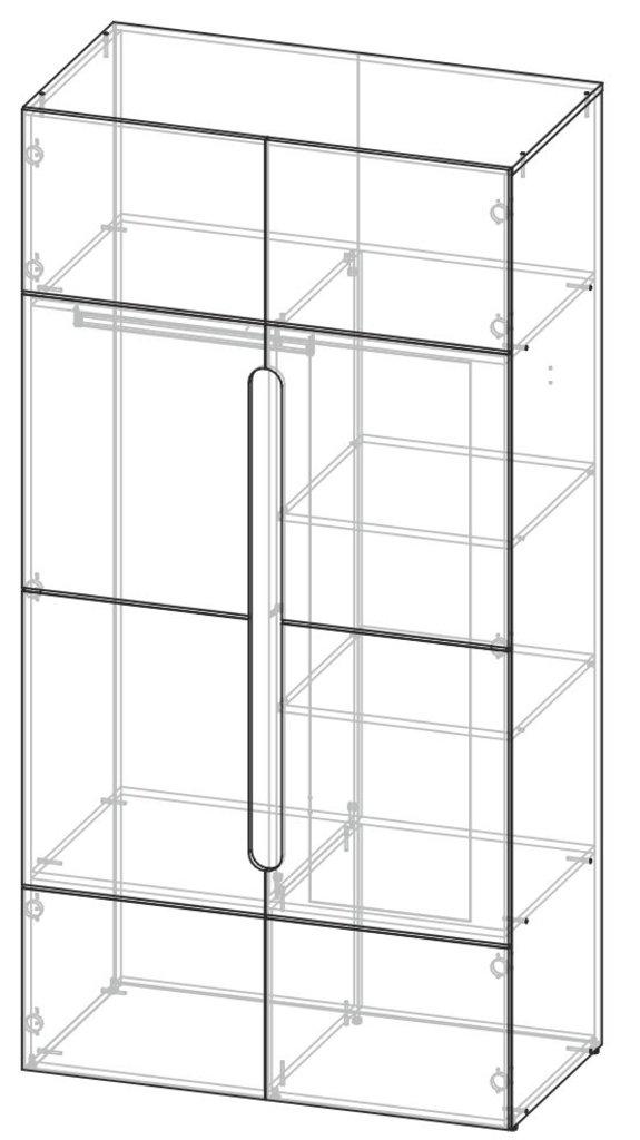 Мебель для спальни Палермо: Шкаф двухстворчатый Палермо в Диван Плюс