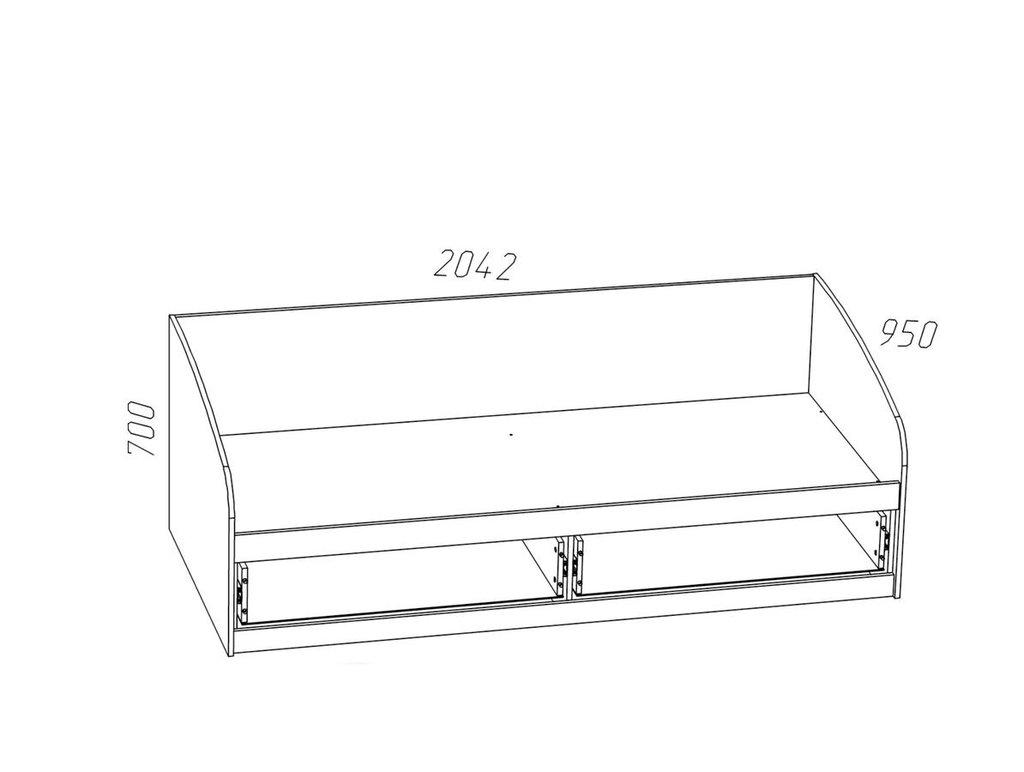 Детские и подростковые кровати: Кровать НМ 008.63 Прованс (900x2000, усилен. настил) в Стильная мебель