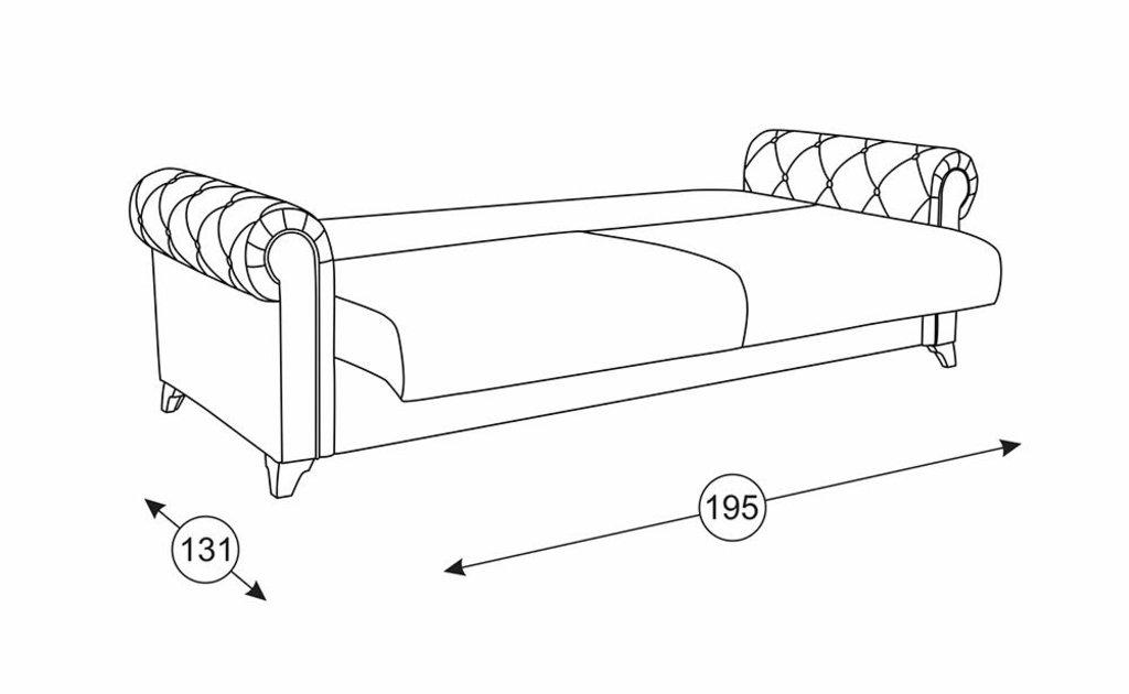 Диваны Петра: Диван-кровать Петра Арт. 125 в Диван Плюс