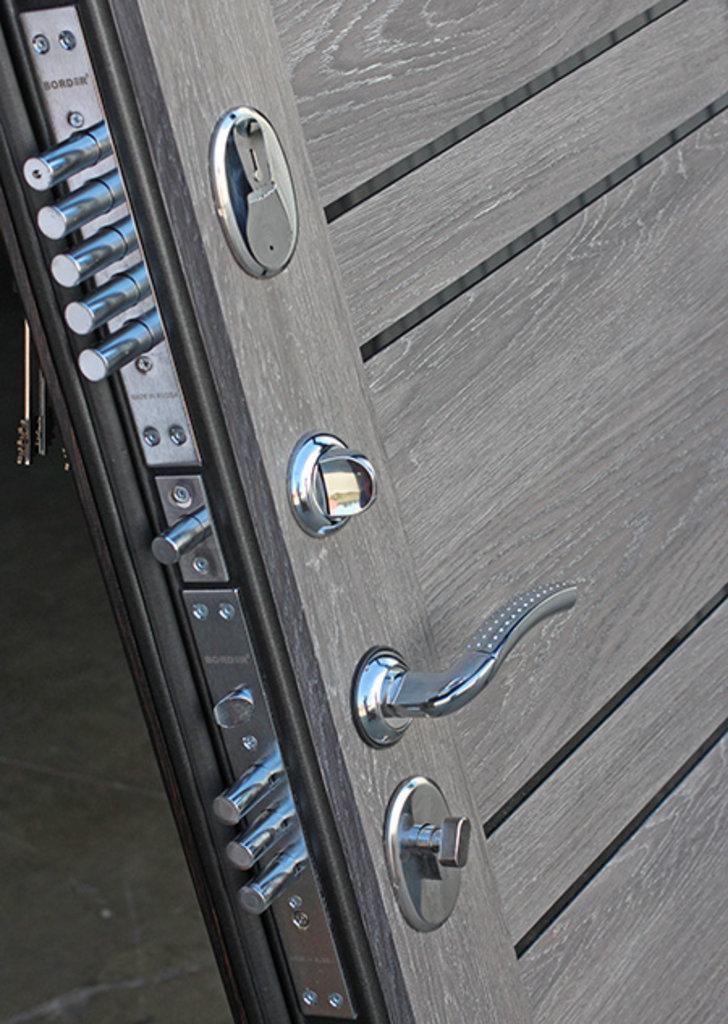 Двери завода Феррони: 10,5 см Чикаго Царга дуб шале графит с МДФ панелями в Модуль Плюс