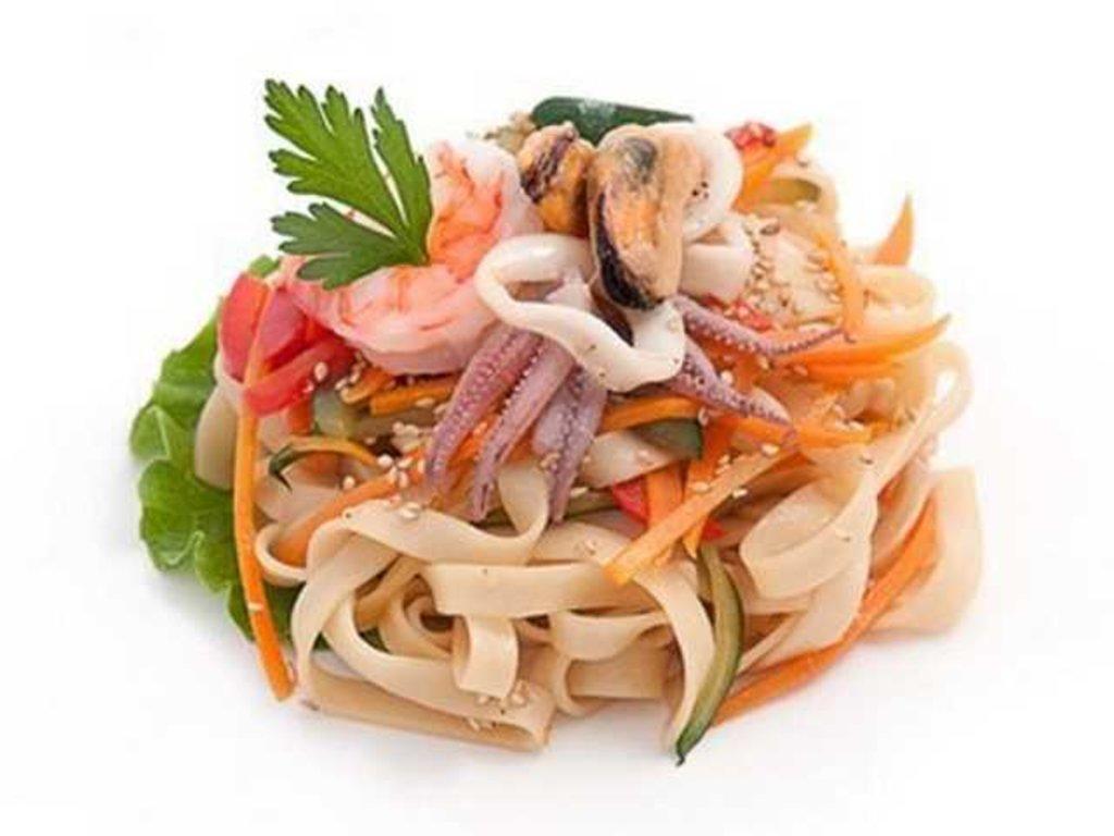 Готовый ВОК: Морепродукты вок в кисло-сладком соусе в СУШИ БАНДА