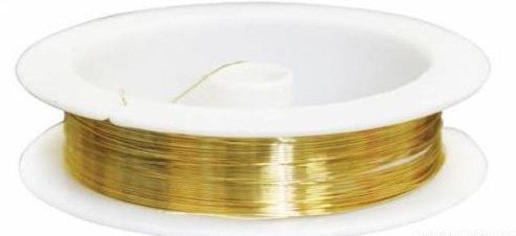 Проволока: Проволока на катушке 09Е04,  0,3мм*10м(золото) в Редиант-НК