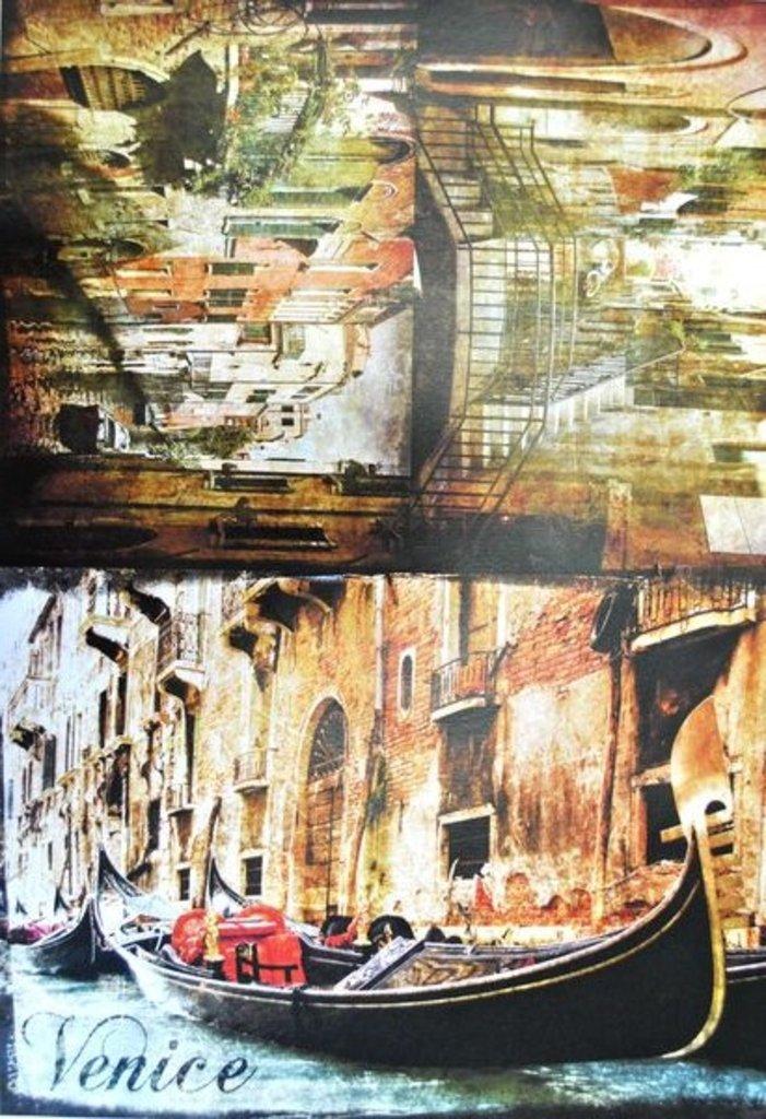 """Декупаж: Декупажная карта  """"Венеция"""" А3 1шт СН.01479 в Шедевр, художественный салон"""