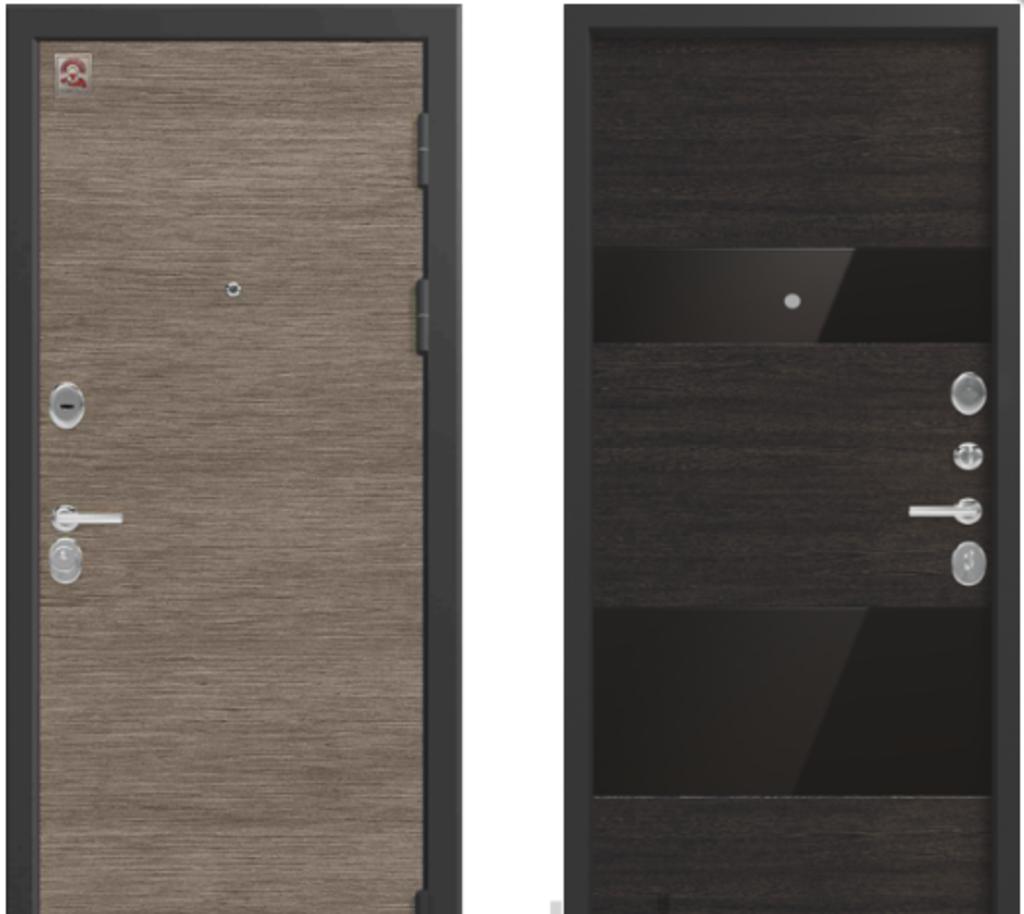 Двери Центурион: Центурион LUX-8 Орех премиум+тёмное стекло в Модуль Плюс