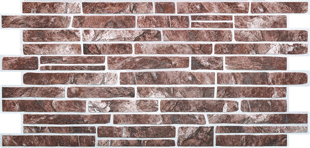 Панели ПВХ: Камень Сланец красный в Мир Потолков
