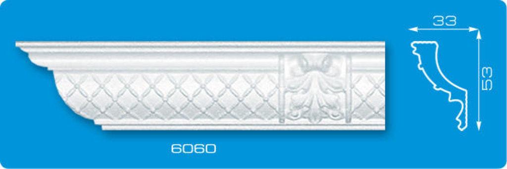 Плинтуса потолочные: Плинтус потолочный ФОРМАТ 6060 инжекционный длина 1,3м, средний в Мир Потолков