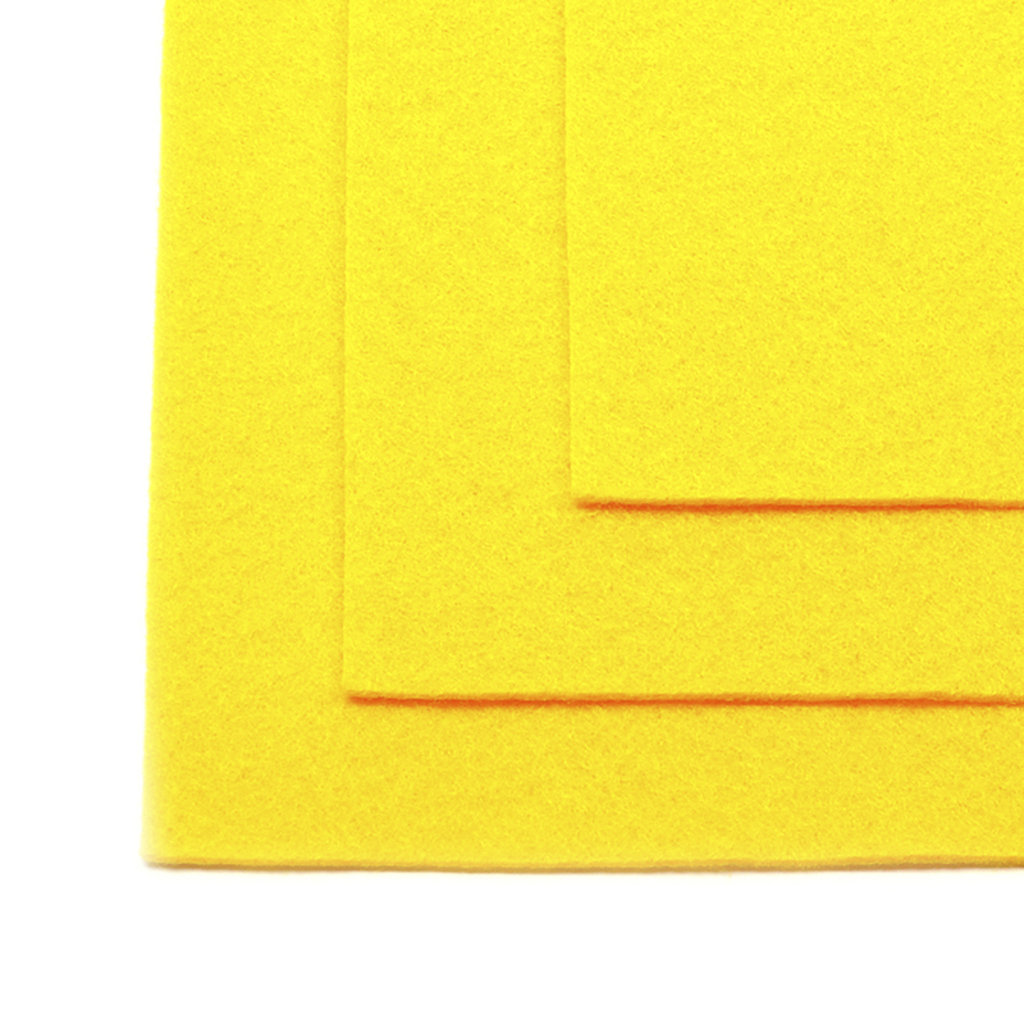 Фетр: IDEAL Фетр жёсткий 1мм 20*30см желтый 1лист в Шедевр, художественный салон