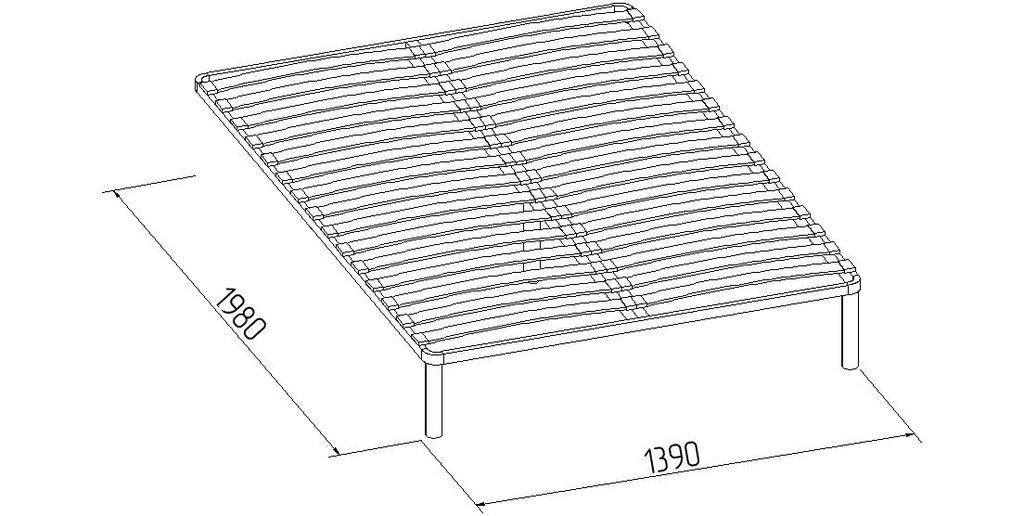 Кровати: Кровать Люкс Марсель 38 (1400, орт. осн. металл) в Стильная мебель