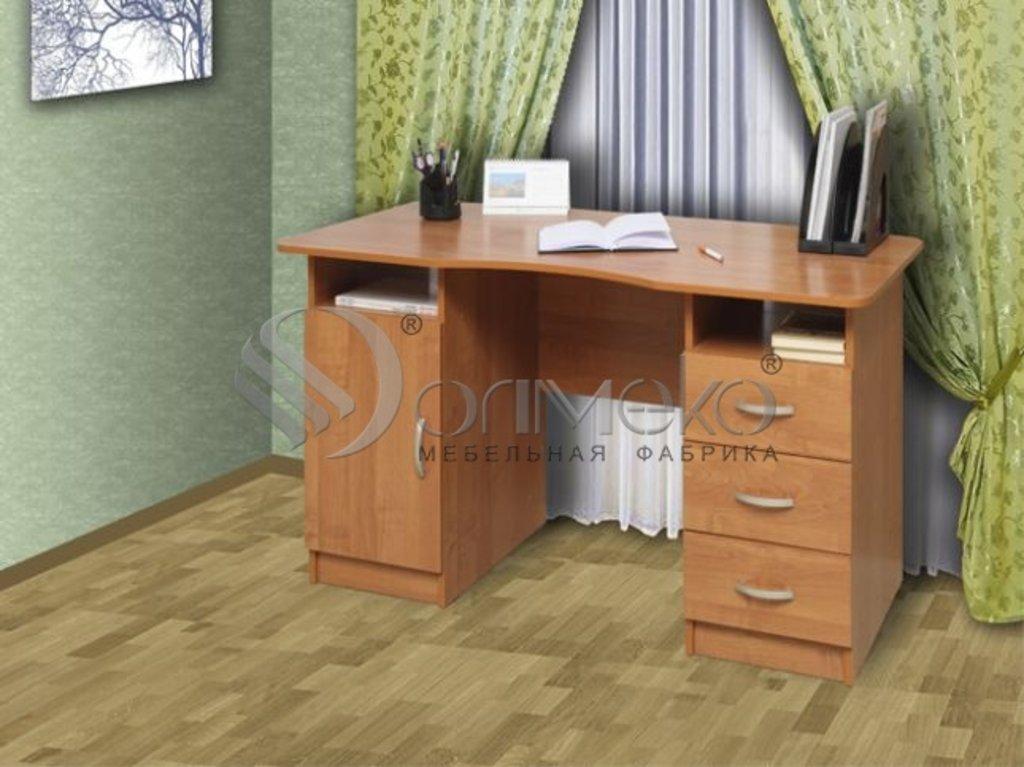 Компьютерные столы: Стол письменный 2-х тумбовый (Олмеко) в Стильная мебель