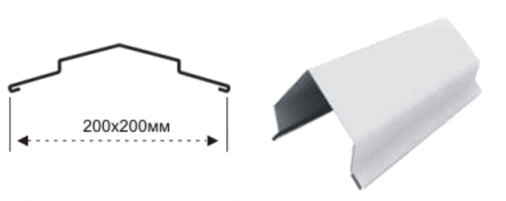 Доборные элементы: Конек с полимерным покрытием в Магнит, ООО
