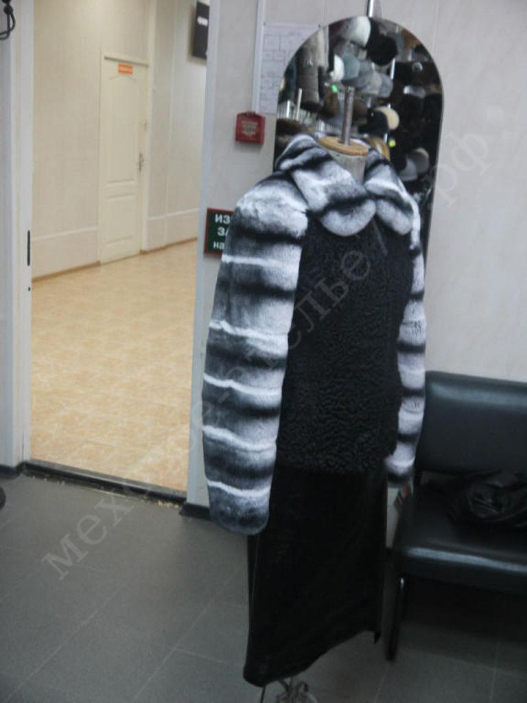 Индивидуальный пошив: Куртка из черного каракуля с кроликом рекс в Молодость