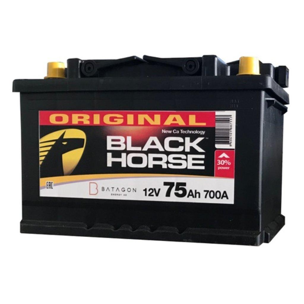 BLACK HORSE: Аккумулятор BLACK HORSE 75 A/h в БазаАКБ