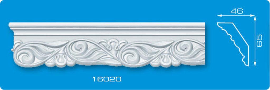 Плинтуса потолочные: Плинтус потолочный ФОРМАТ 16020 инжекционный длина 1,3м, средний в Мир Потолков