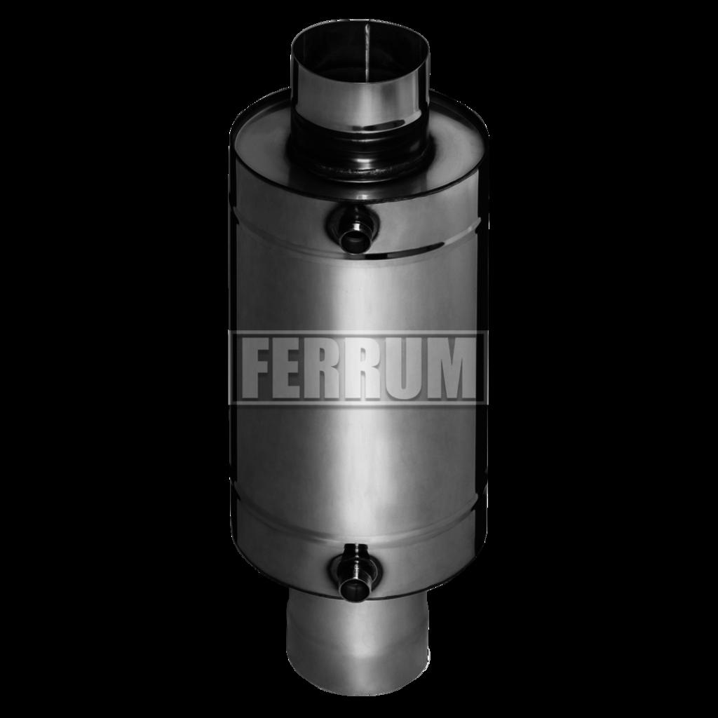 Печи и дымоходы: Теплообменник Феррум Комфорт самоварного типа, 12л, нерж.(AISI 201/1,0 мм), ф115 мм, L=0,5м, круглый в Погонаж