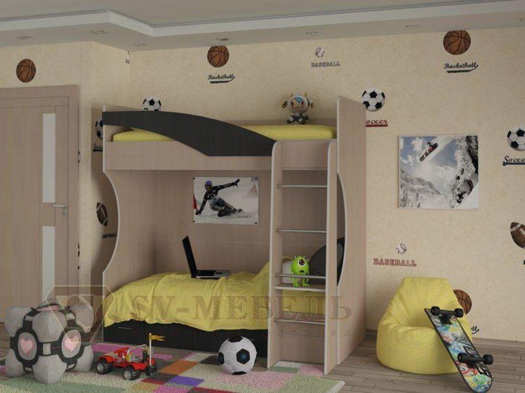 Мебель для детской Бэмби-4: Кровать двухъярусная (без матраца 0,8*1,86) Бэмби-4 в Диван Плюс