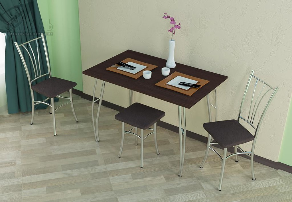 Обеденные группы: Стол обеденный №1 (Д1100хВ750хГ700мм) в Диван Плюс