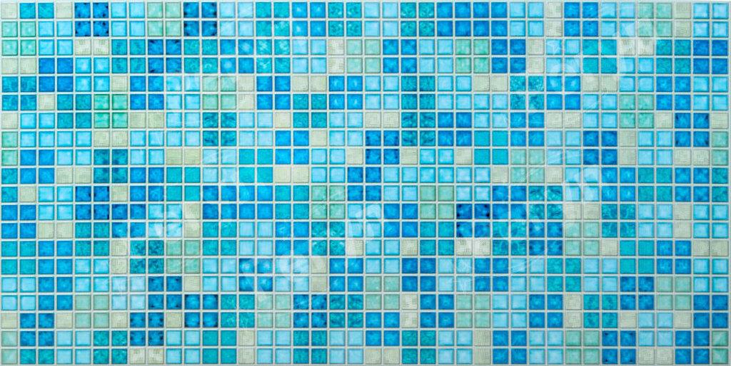 Панели ПВХ: Мозаика Блик синий в Мир Потолков