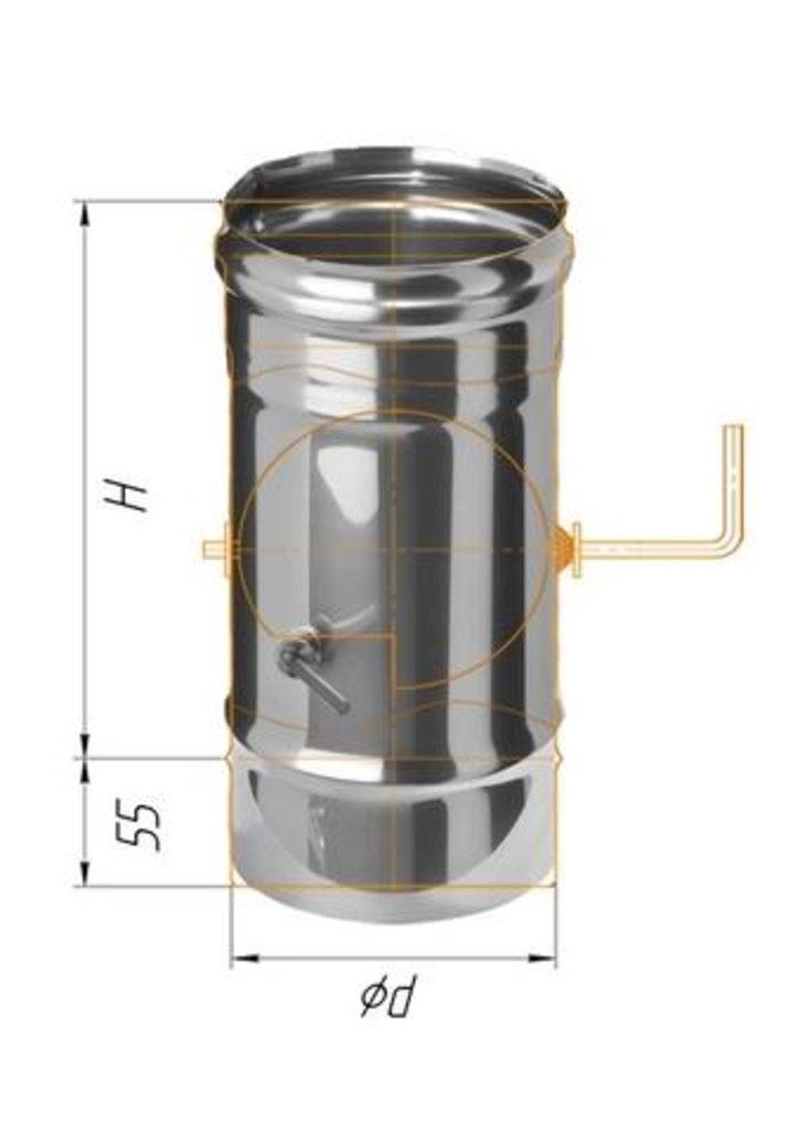 Печи и дымоходы: Заслонка Феррум (шибер поворотный) нержавеющая (430/0,8мм), ф115 в Погонаж