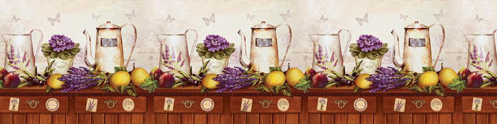Декоративные интерьерные панели (фартуки для кухни): Интерьерная декоративная панель Альпийская лаванда (3х0,6м) в Мир Потолков