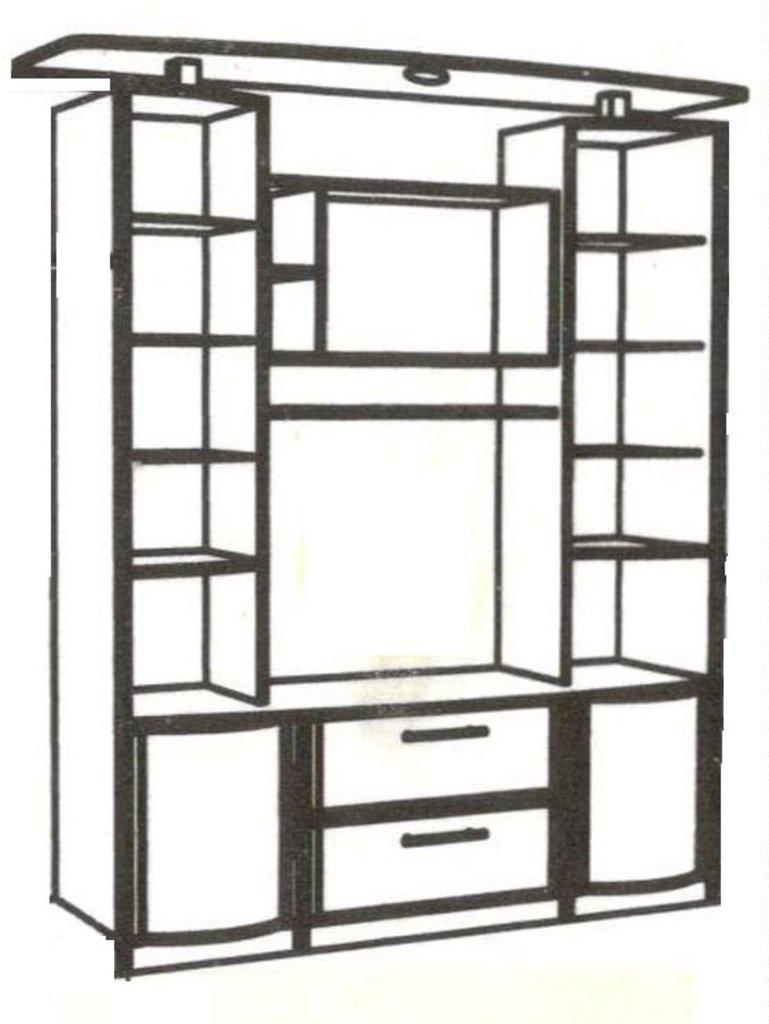 Шкафы, общие: Шкаф МЦН Кристина 1 в Стильная мебель