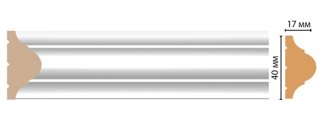 Молдинги: Цветной молдинг DECOMASTER D002-114 (40*17*2400) в Мир Потолков