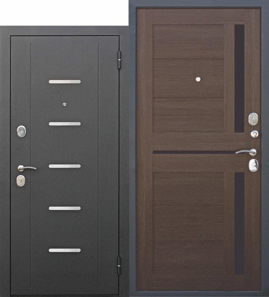 Двери завода Феррони: 7,5 см Garda МУАР ЦАРГА Лиственница шоколад в Модуль Плюс