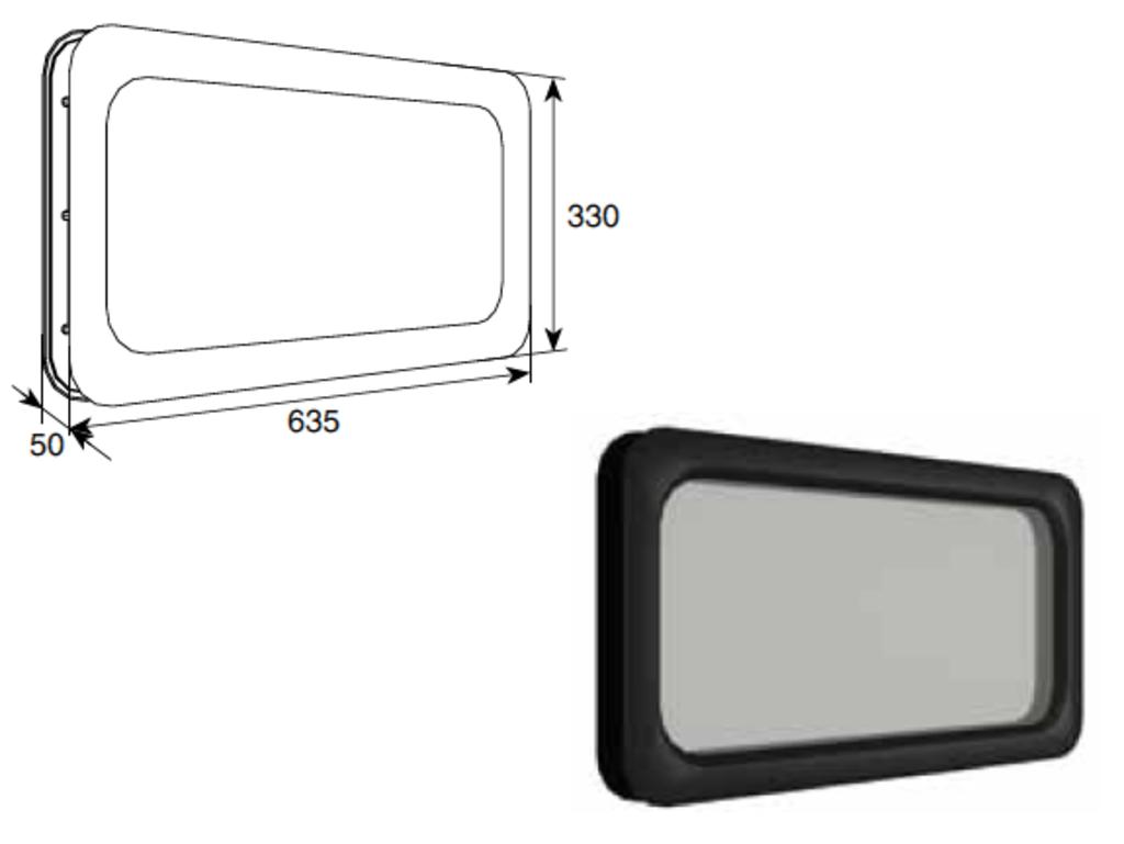 Окна для секционных ворот: Окно акриловое 635*330 Doorhan в АБ ГРУПП