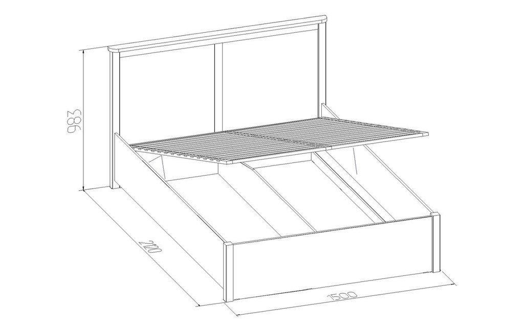 Кровати: Кровать Sherlock 43.2 (1400, мех. подъема) в Стильная мебель