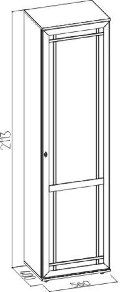 Шкафы для прихожих: Шкаф для одежды и белья правый Sherlock 71 в Стильная мебель