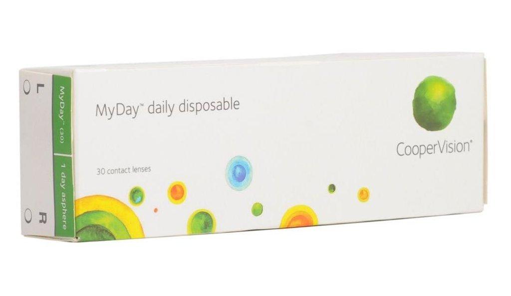 Контактные линзы: Контактные линзы MyDay Daily disposable (30шт / 8.5) CooperVision в Лорнет