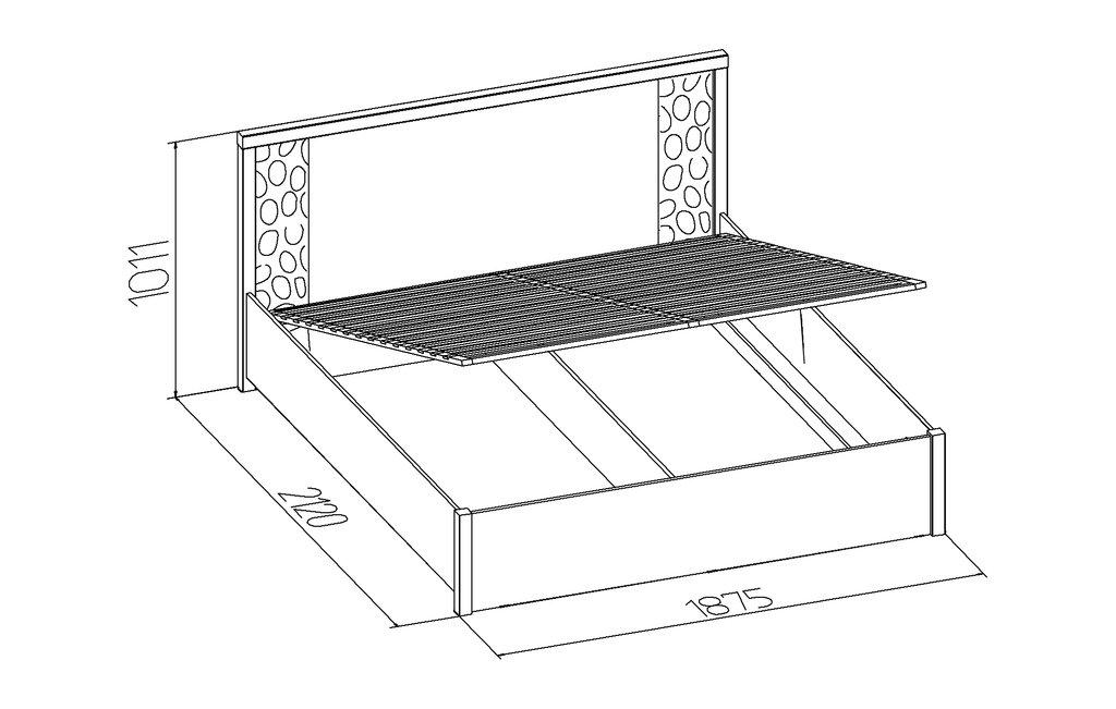 Кровати: Кровать WYSPAA 21.2 (1800, мех. подъема) в Стильная мебель