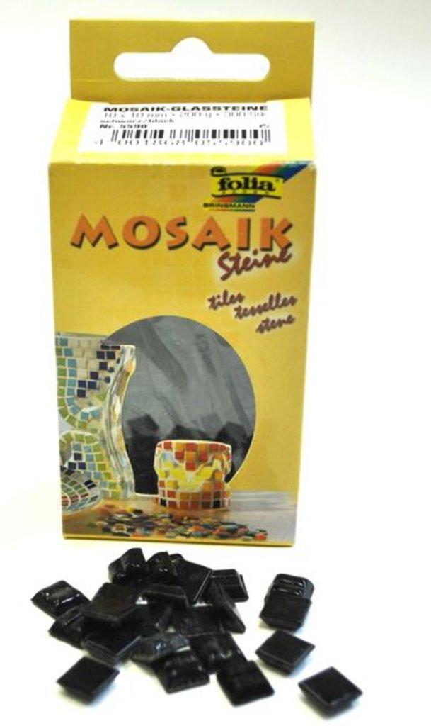 Мозаика: Folia Набор стеклянной мозаики, 1х1см, 300шт., черный в Шедевр, художественный салон