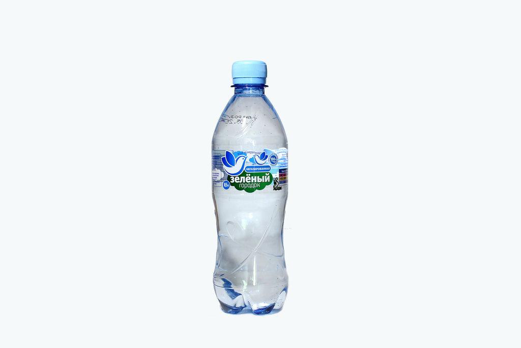 Вода 0,5 - 1,5 л: ЗЕЛЕНЫЙ ГОРОДОК 0,5 негазированная в ТСК+, ООО